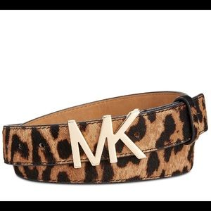 Michael Michael Kors Mk Buckle Leopard Calf Hair B